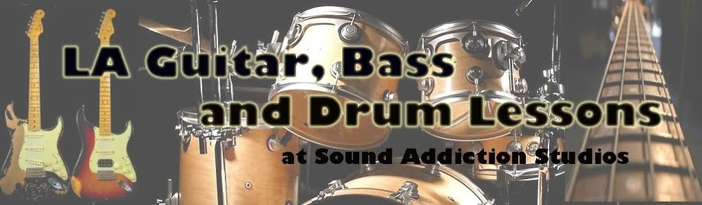 Los Angeles Guitar Bass and Drum Lessons