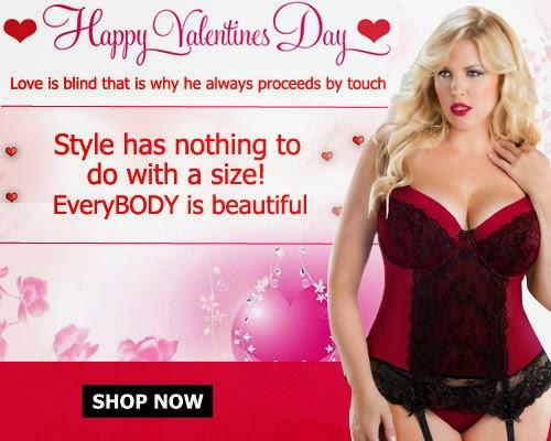 Women Plus Size Lingerie For Valentine