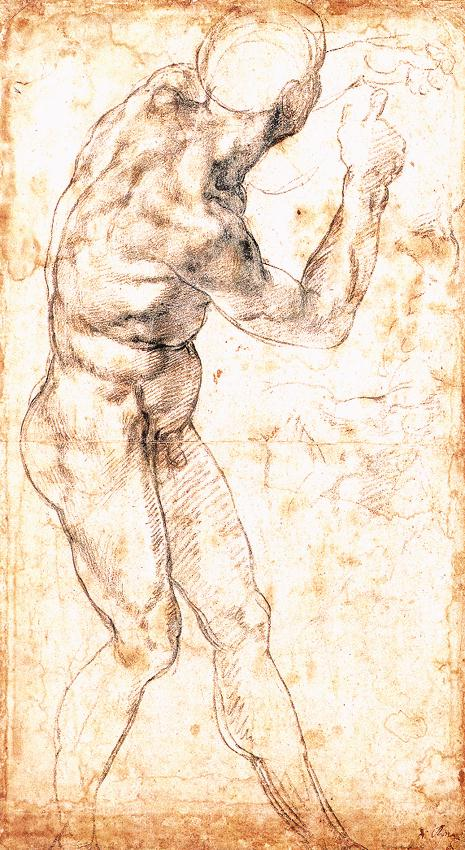A Male Nude.
