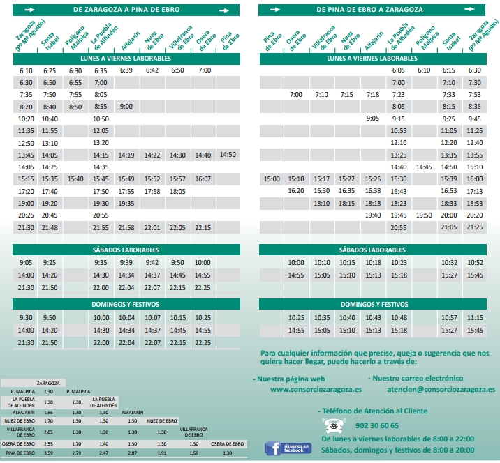 horarios de autobuses zaragoza: