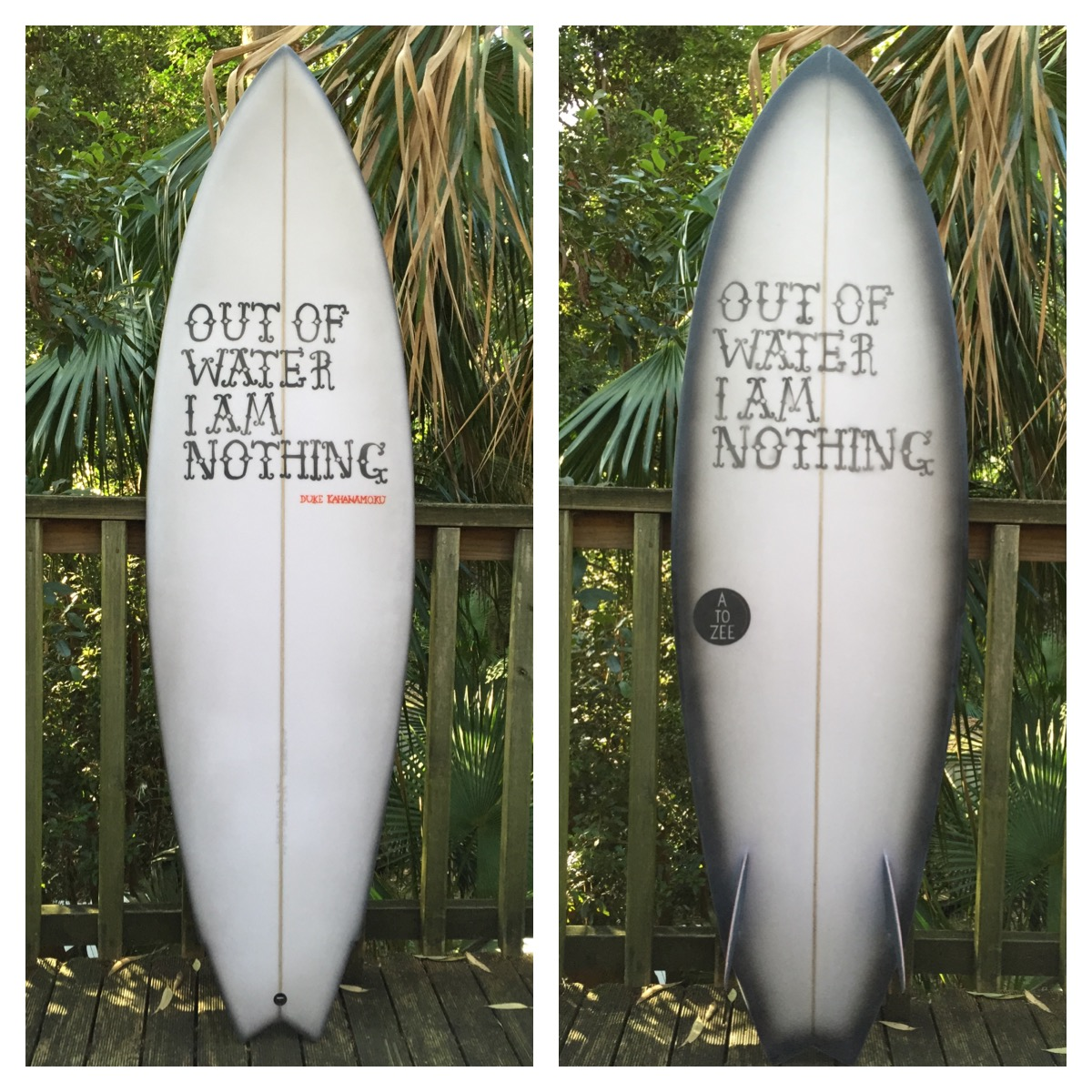 Model 6- Duke Kahanamotu twin fin