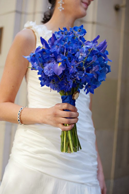 Wedding Delphinium Flower Bouquet