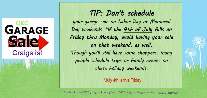 Garage Sale Tip Worst Garage Amp Estate Sale Dates