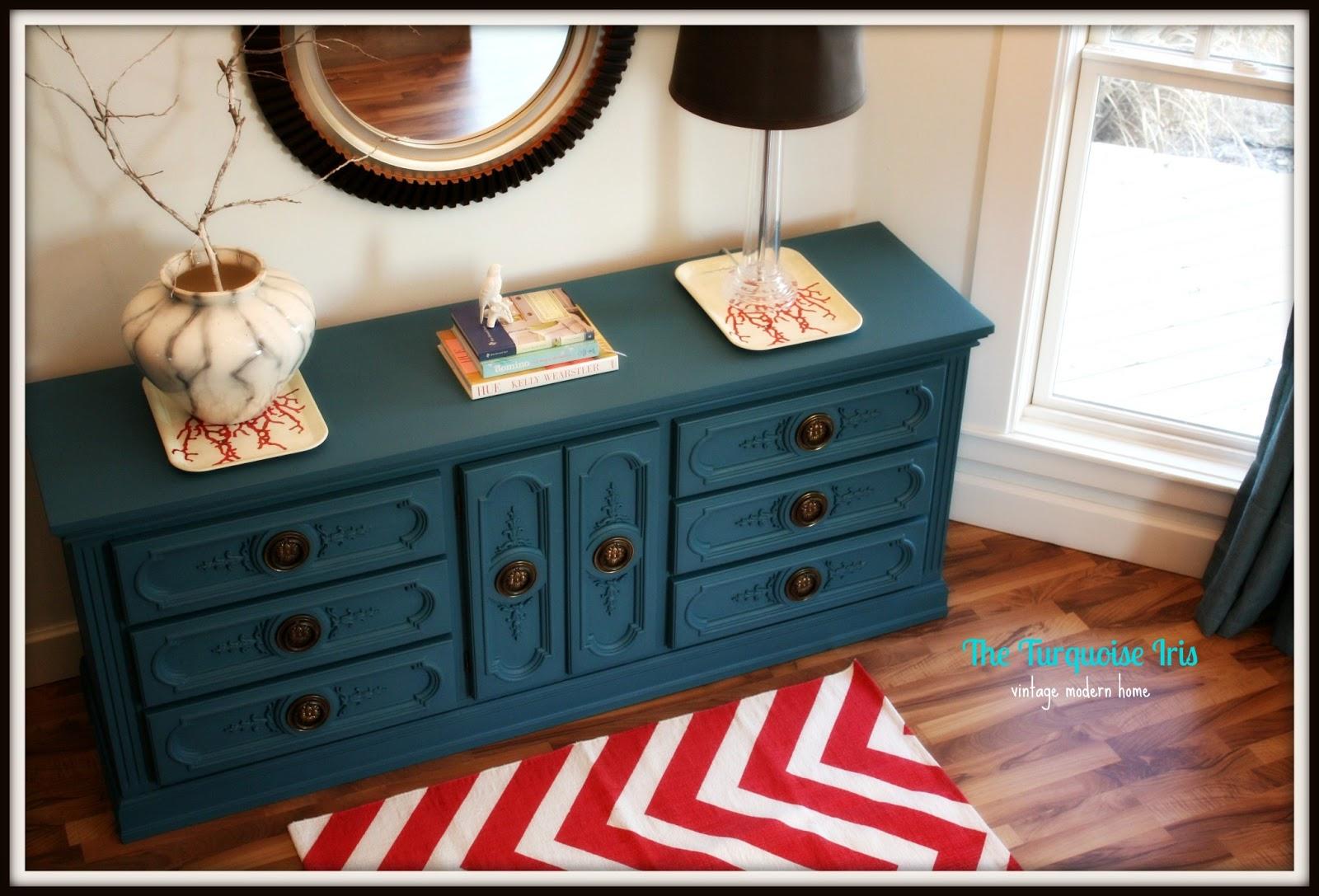 Indigo Blue Vintage Dresser...LOVE