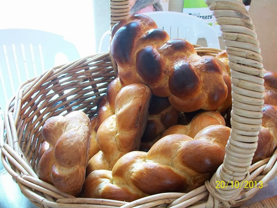 fresh baked swiss bread