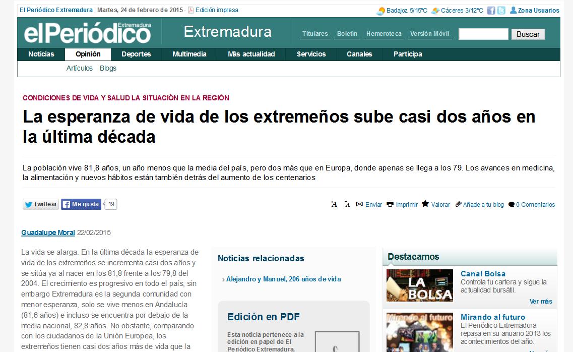 El Periódico Extremadura's article