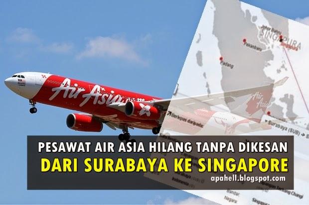 Pesawat Air Asia QZ8501 Terputus Hubungan Dengan Menara Kawalan