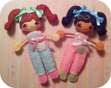 Missy and Shyla Sunshine Teeny Pocket Dolls