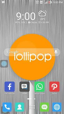 Menu Utama Lollipop Asus Zenfone 5