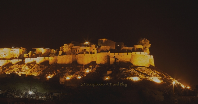 Sonar Quila at Jaisalmer Rajasthan at night
