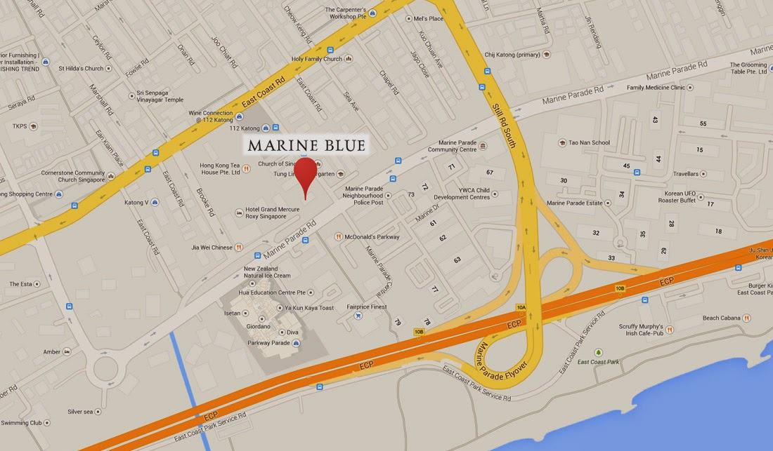 MARINE BLUE@marine parade Map