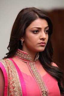 Actress Kajal Agarwal Latest Pictures in Pink Long Dress in Sarocharu Movie  0006