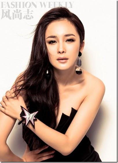 chinese model yang mi on fashion weekly asian girls