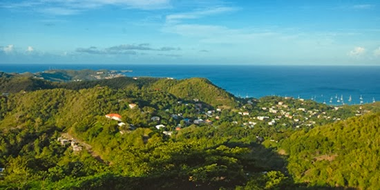 The property enjoys views across Grenada and the Caribbean Sea