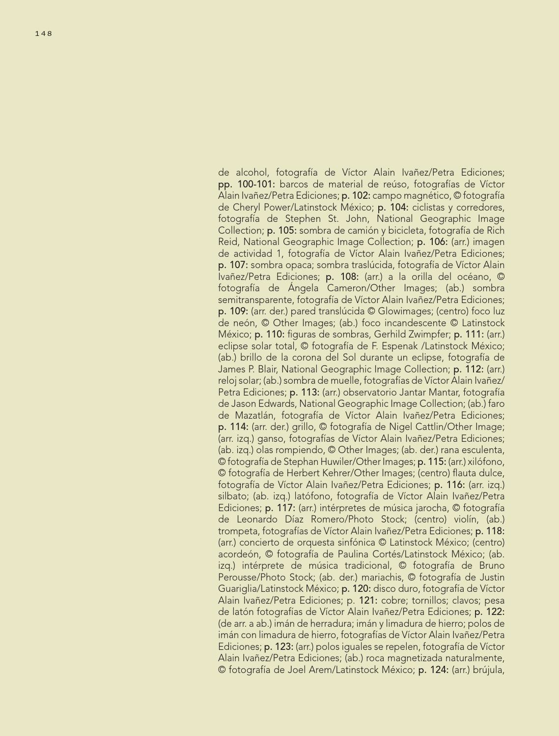 Créditos iconográficos - Ciencias Naturales 3ro 2014-2015