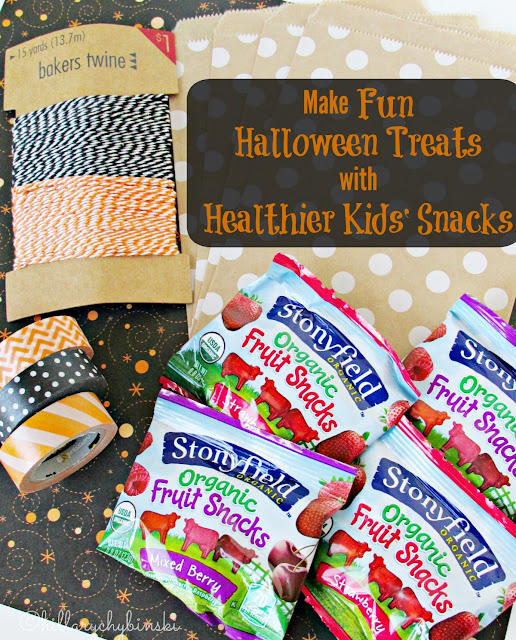 Stonyfield Organic Fruit Snacks and Fun Homemade Treat Bags Make for a Great Halloween