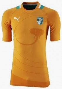 Kostum Timnas Pantai Gading Piala Dunia 2014