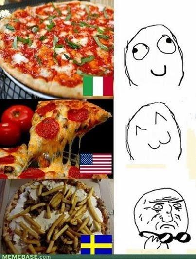 Pizza sueca (kebabpizza)