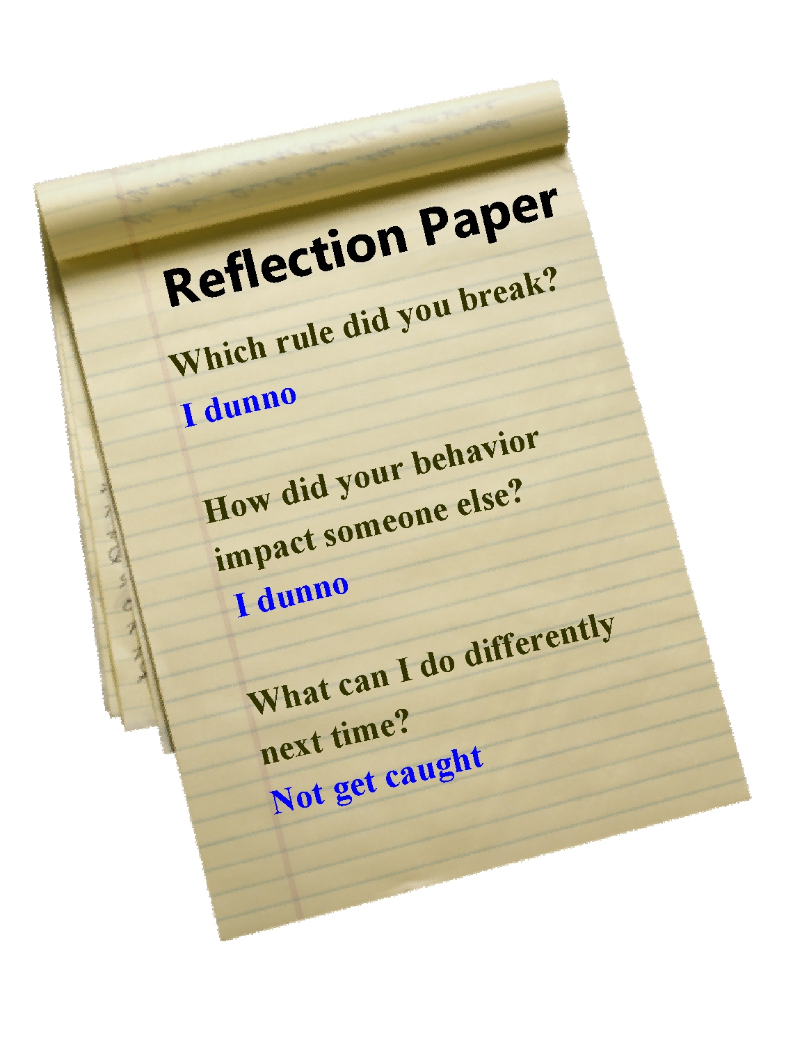 What is a self reflection paper