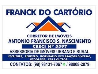 CORRETOR DE IMÓVEIS FRANK DO CARTÓRIO