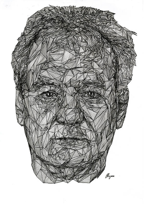 08-Bill-Murray-Josh-Bryan-Monochromatic-Triangulation-Drawings-Portraits-www-designstack-co