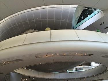 Chuck and Lori's Travel Blog - Spiral Walkway Up to the Hayden Planetarium