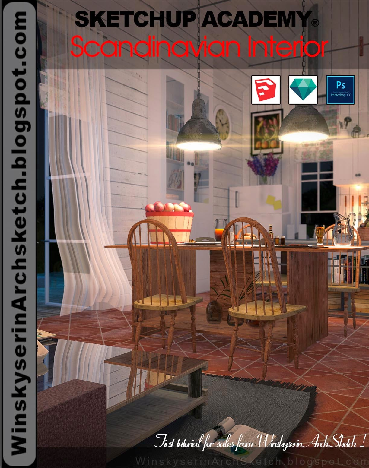 DVD học SketchUp,Artlantis,Photoshop free