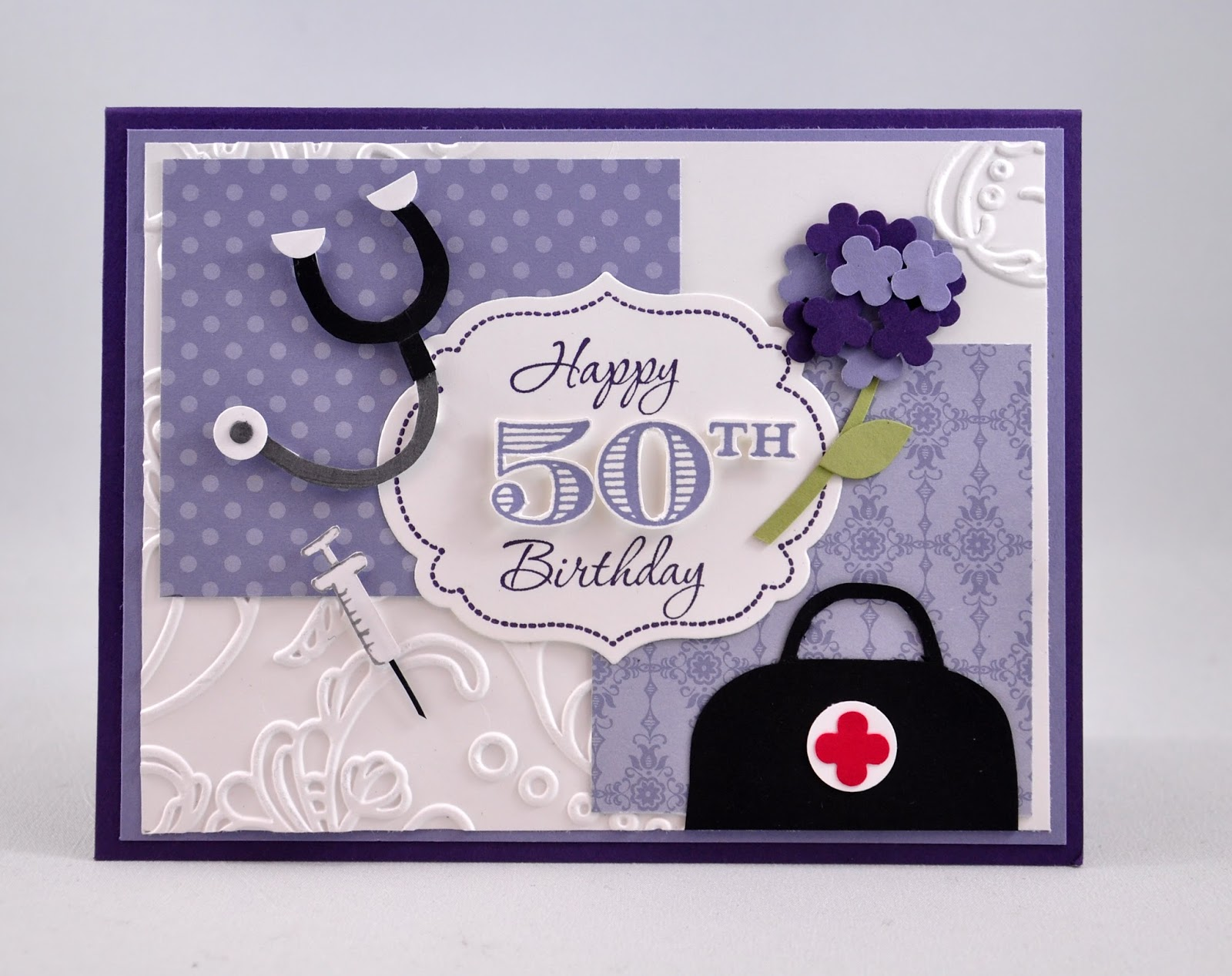 Snippets by design a 50th birthday card for a doctor a 50th birthday card for a doctor m4hsunfo