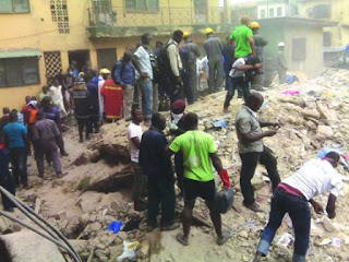picture of building that collapsed in lagos