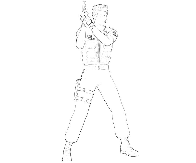 printable-resident-evil-chris-redfield-skill-coloring-pages