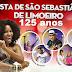 125ª Festa de São Sebastião tem programação divulgada e dentre as atrações a baiana Margareth Menezes