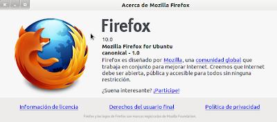 Imagen de Mozilla Firefox 10