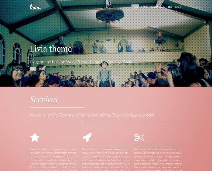 Livia – Fashion WordPress Model Agency Theme