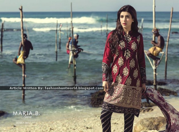 MARIA-B Lawn 2015 Complete Look Book