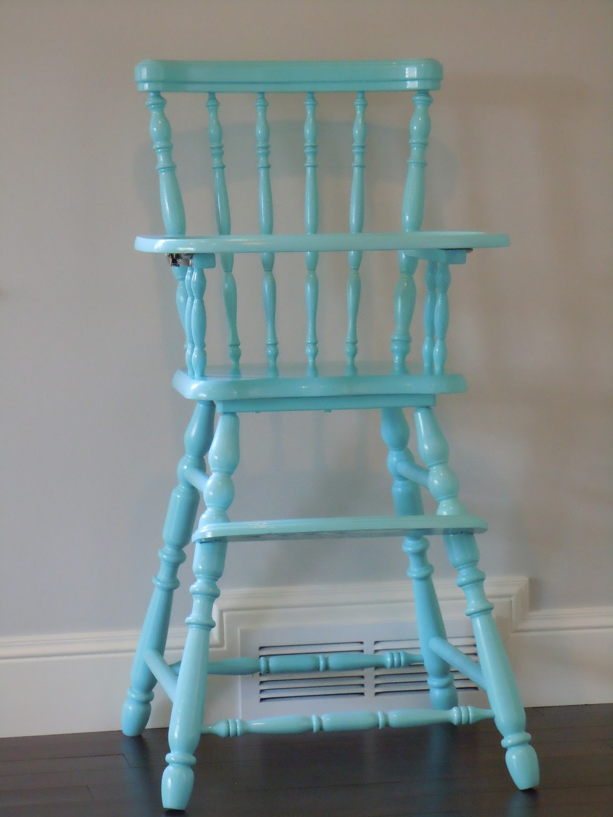 Painted wood high chair - September 30 2011 A Tree Lined Street A Swing A Miss