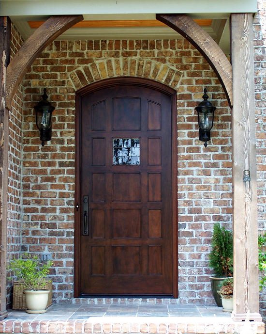Our french inspired home exterior french doors which for Large wooden front doors
