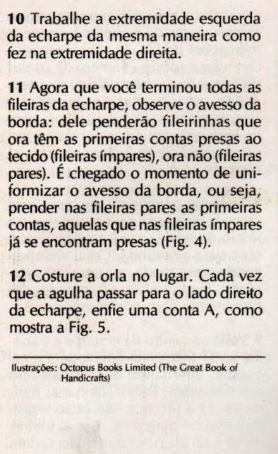 COMO FAZER FRANJAS DE MIÇANGAS E PEDRARIAS NUMA ECHARPE