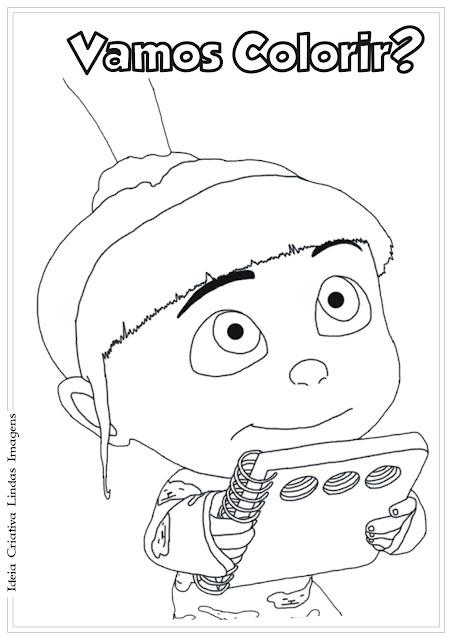 Desenho Meu Malvado Favorito 2 Agnes para colorir