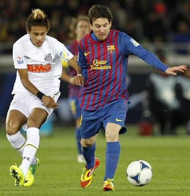 messi y neymar mundial de clubes 2011