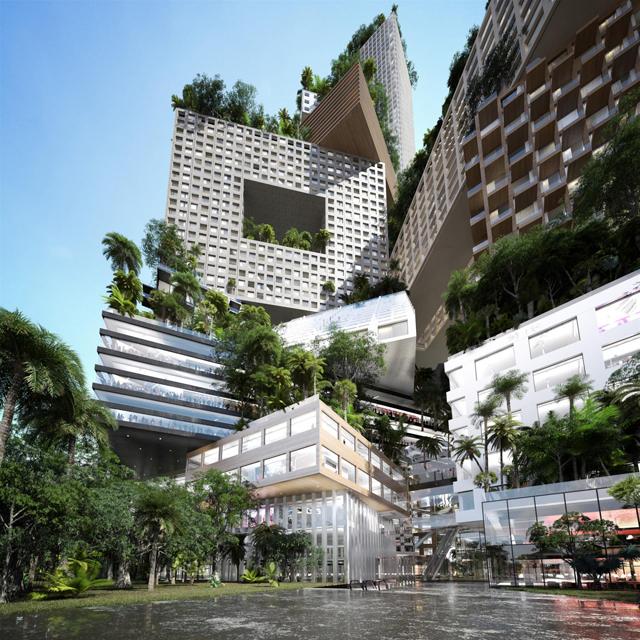 Projeto de prédio sustentável na Indonésia prevê cobertura verde de 360.000 m2