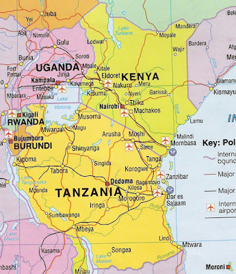 East Africa Map Picture