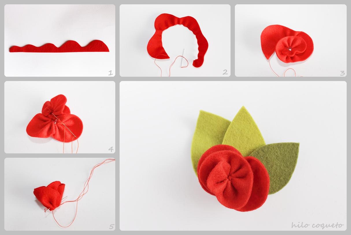 Hilocoqueto como hacer una flor de fieltro ii - Www como hacer flores com ...