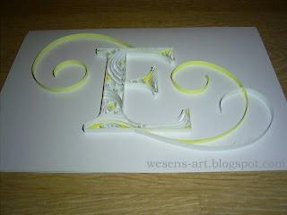 "Quilling ""E"" 2    wesens-art.blogspot.com"