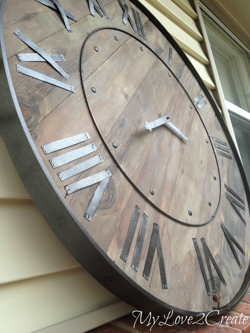 Pottery Barn Knock Off Clock My Love 2 Create