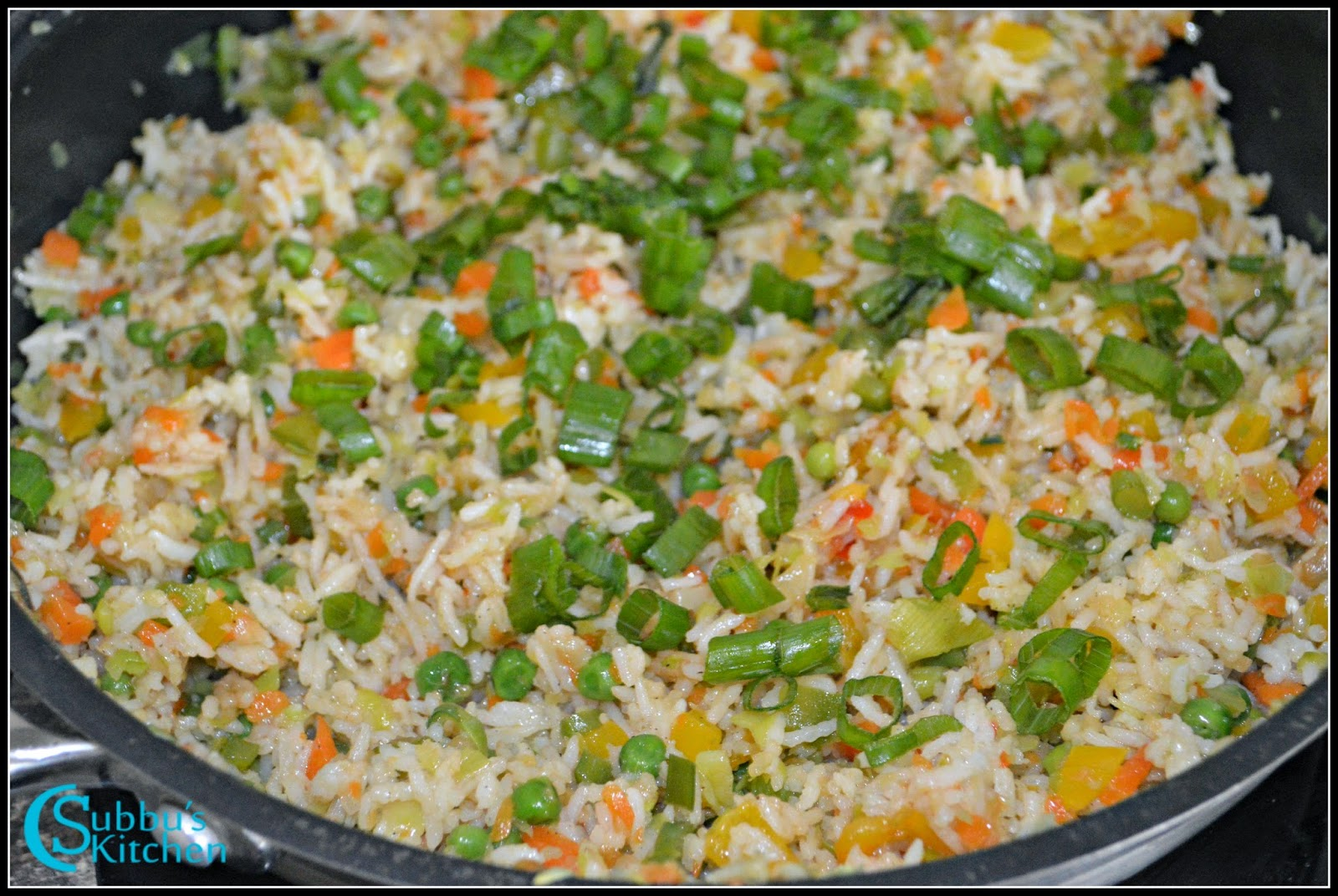 ... vegetable fried rice is now ready to serve chinese vegetable fried