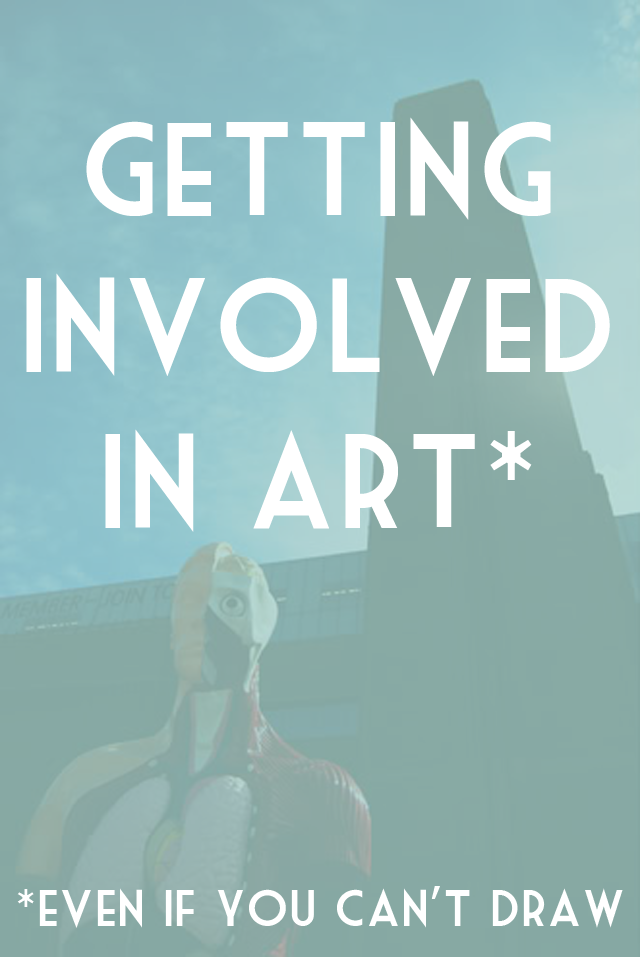 Ways to get involved in art for people who can't draw or paint