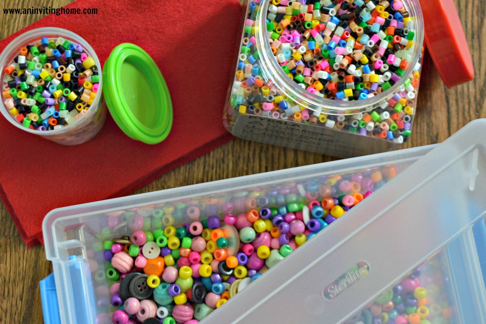 small containers to store beads