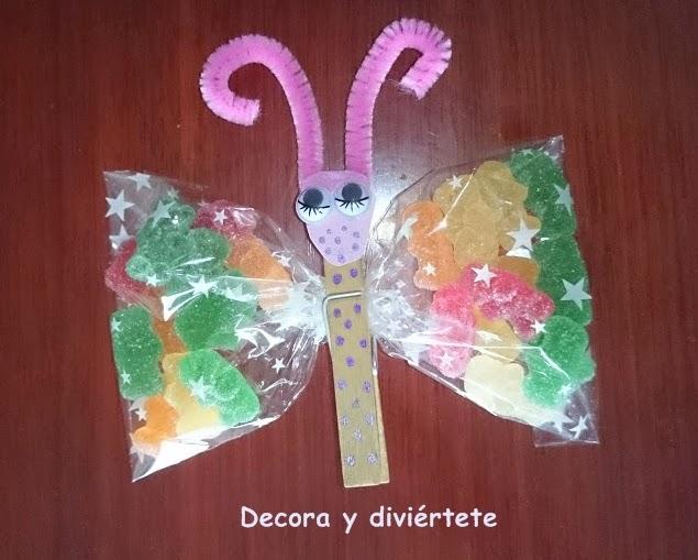Un diy para hacer una mariposa de chuches paso a paso decora y divi rtete - Como hacer una fiesta infantil economica ...