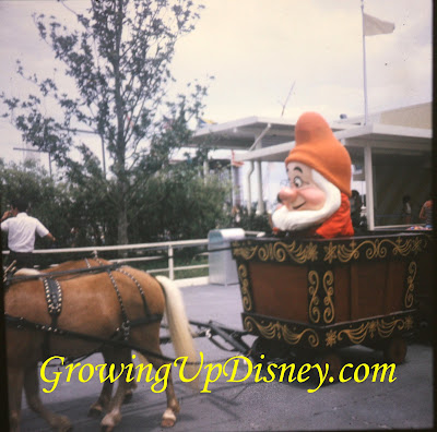 1973 Magic Kingdom parade Grumpy, vintage characters