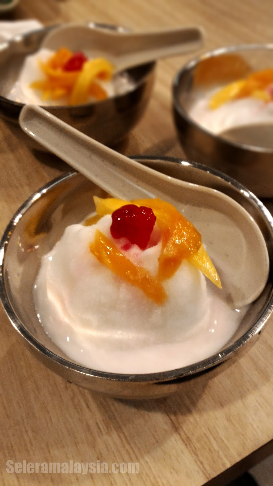 Thai Red Ruby Water Chestnut with Coconut Cream and Jackfruit